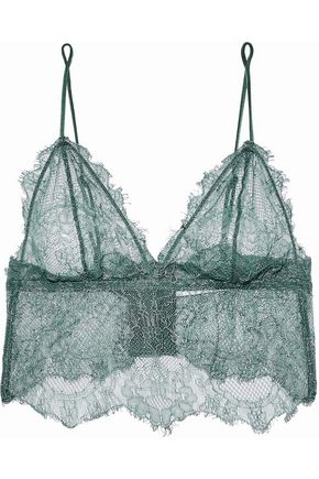 ANINE BING Stretch-lace soft-cup bralette