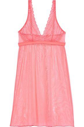 COSABELLA Minoa lace-paneled stretch-mesh chemise