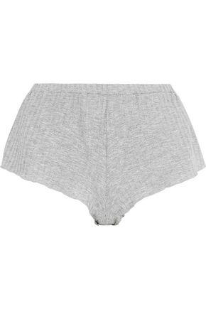 COSABELLA Minimalista metallic ribbed jersey pajama shorts