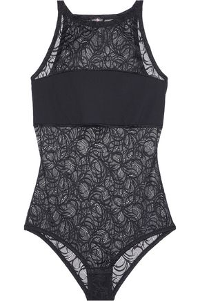 COSABELLA Evolved stretch-jersey and lace bodysuit