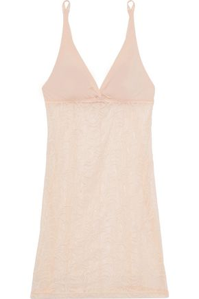 COSABELLA Evolved jersey-paneled stretch-lace chemise