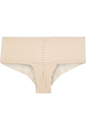 COSABELLA Sweet Treats Shadow Stripe stretch-lace mid-rise briefs