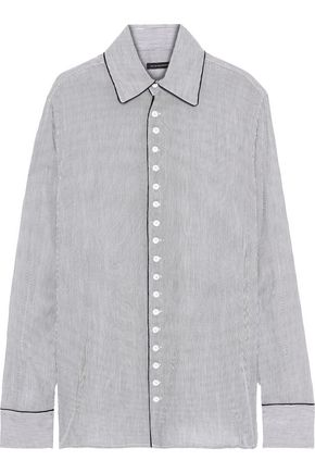 KIKI DE MONTPARNASSE New Boyfriend striped cotton-poplin shirt