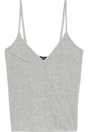 COSABELLA Ribbed metallic jersey camisole