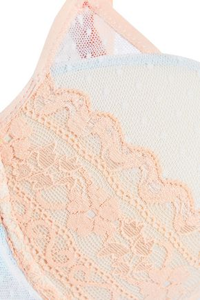 COSABELLA Oceano Leavers lace and point d'esprit push-up bra