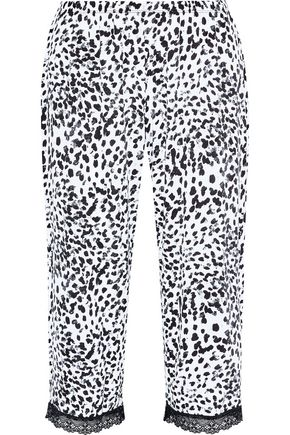 COSABELLA Majestic cropped leopard-print modal-blend pajama pants