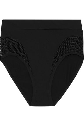 COSABELLA Bisou Move mesh-paneled stretch-jersey high-rise briefs