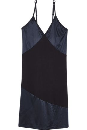 COSABELLA Baya satin-paneled cotton-blend jersey chemise