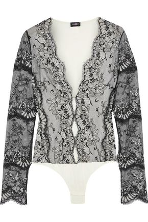 COSABELLA Delight lace-paneled stretch-jersey bodysuit