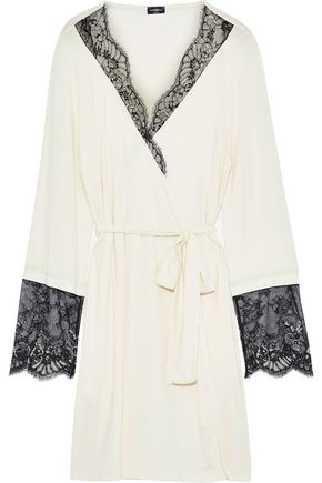 COSABELLA Delight lace-trimmed modal-blend jersey robe