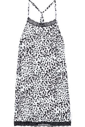 COSABELLA Majestic lace-trimmed leopard-print modal-blend chemise