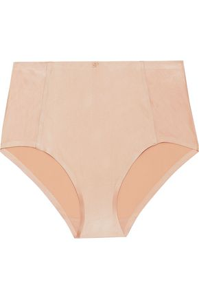 SIMONE PÉRÈLE Stretch satin-jersey high-rise briefs
