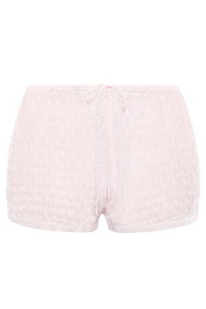 SKIN Madison pointelle-knit wool-blend pajama shorts