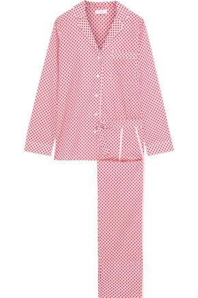 YOLKE Cotton-poplin pajama set