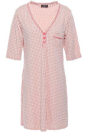 COSABELLA Printed cotton-blend jersey nightshirt
