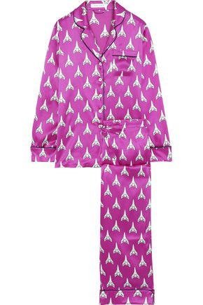 OLIVIA VON HALLE Silk-charmeuse pajama set