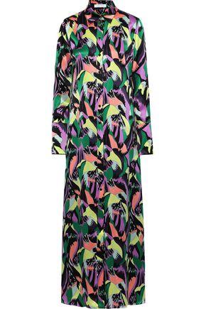 OLIVIA VON HALLE Hero printed silk-satin nightdress
