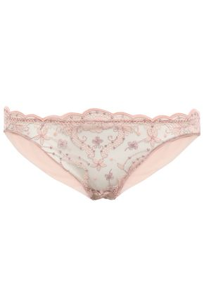 I.D. SARRIERI Embroidered tulle low-rise briefs