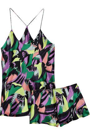OLIVIA VON HALLE Bella silk-satin pajama set