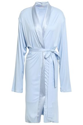 HANRO Satin-trimmed modal and silk-blend jersey robe