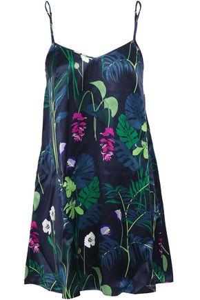 OLIVIA VON HALLE Silk-satin chemise