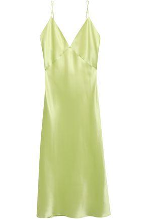 OLIVIA VON HALLE Issa silk-satin nightdress