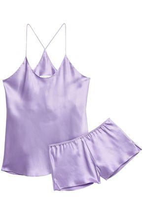OLIVIA VON HALLE Bella printed silk-charmeuse pajama set