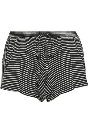EBERJEY Toni striped jersey pajama shorts