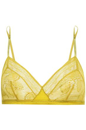 ERES Farniente Mimosa satin-trimmed Leavers lace soft-cup triangle bra