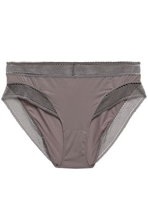 ERES Peau d'Ange Legere mesh-trimmed stretch-jersey mid-rise briefs