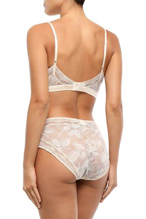 ERES Farniente Ivresse Swiss-dot satin and Leavers lace mid-rise briefs