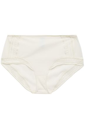 ERES Paroles Chut Leavers lace-trimmed embossed jersey high-rise briefs