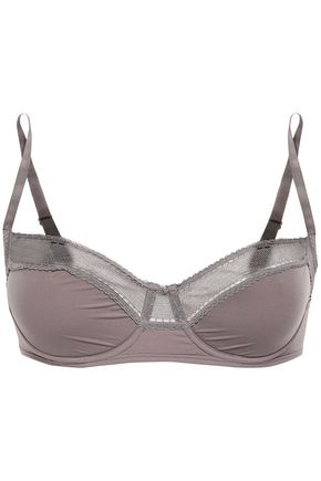 ERES Peau d'Ange Délicieuse mesh-trimmed stretch-jersey balconette bra