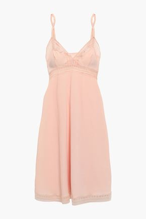 ERES Leavers lace-trimmed stretch-cloqué slip