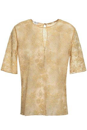 ERES Cailloux metallic lace pajama top