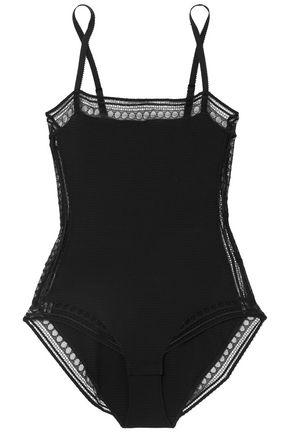 ERES Whaouu lace-trimmed stretch-cloqué bodysuit