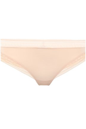 ERES Super Leavers lace-trimmed stretch-cloqué mid-rise thong