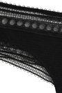 ERES Super Leavers lace-trimmed stretch-cloqué mid-rise thong