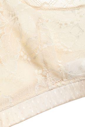 ERES Pétille satin-jacquard and lace soft-cup bra
