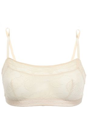 ERES Pétille satin-jacquard and lace soft-cup bra