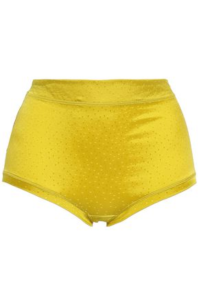 ERES Farniente Nirvana Swiss-dot silk-blend satin high-rise briefs