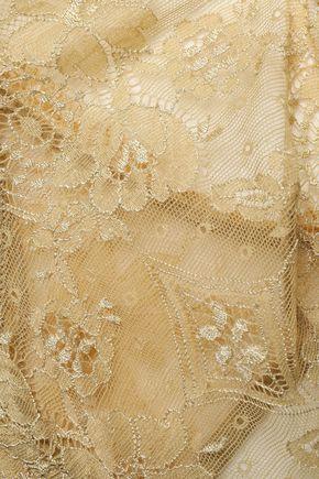 ERES Bijoux Joujoux satin-trimmed metallic lace underwired bra
