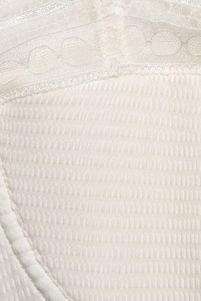 ERES Paroles Ohlala Leavers lace-trimmed embossed jersey balconette bra