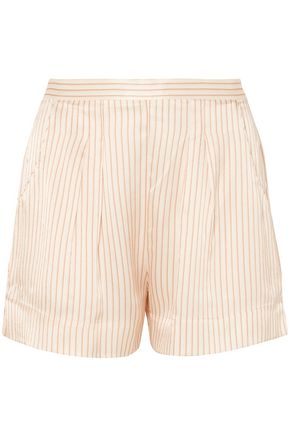 ERES Riga Frutti hammered striped silk-satin pajama shorts