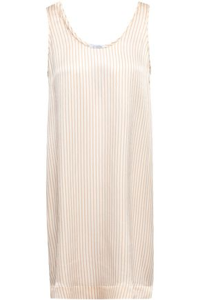 ERES Fragola hammered striped silk-satin nightdress