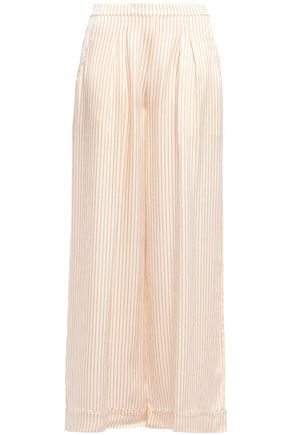 ERES Riga Amaretto hammered striped silk-satin pajama pants