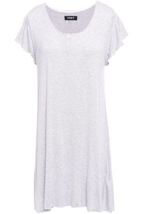 DKNY Striped stretch-jersey nightshirt