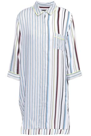 DKNY Striped mousseline nightshirt