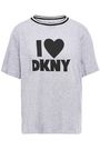 DKNY Printed cotton-blend jersey pajama top
