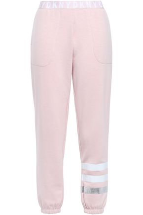 DKNY Metallic-trimmed fleece pajama pants